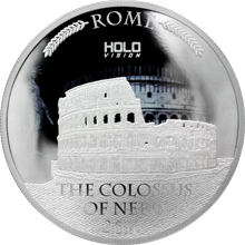 Stříbrná mince 3 Oz Colossus of Nero Holo Vision 2016 Proof
