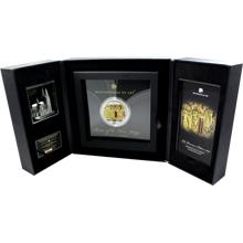 Stříbrná mince 3 Oz se zlatou 1/4 Oz inlejí Relikviář Tří králů 2016 Krystaly Proof