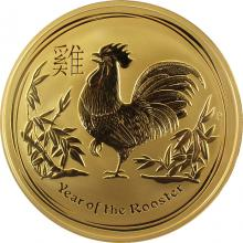 Zlatá investiční mince Year of the Rooster Rok Kohouta Lunární 1 Kg 2017