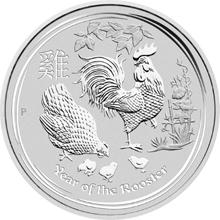 Stříbrná investiční mince Year of the Rooster Rok Kohouta Lunární 10 Kg 2017
