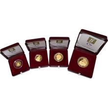 Dukátová řada ČR 1997 sada 4 medailí Proof