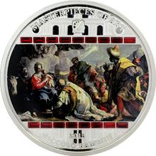 Stříbrná mince 3 Oz Klanění tří králů Nicolo Bambini 2013 Krystaly Proof
