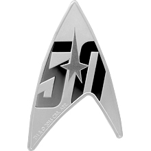 Stříbrná mince Star Trek 50. výročí 1 Oz 2016 Proof