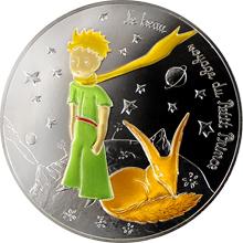 Stříbrná kolorovaná mince Malý princ: Nádherná cesta - Liška 2016 Proof
