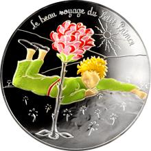 Stříbrná kolorovaná mince Malý princ: Nádherná cesta - Květina 2016 Proof