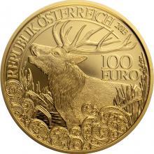 Zlatá mince Jelen evropský 2013 Proof