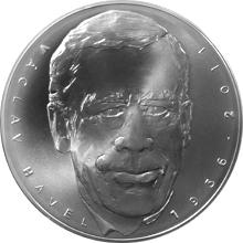 Stříbrná kilogramová medaile Václav Havel - 80. výročí 2016 Standard