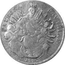 Stříbrná mince Tolar Maxmilián III. Josef 1772