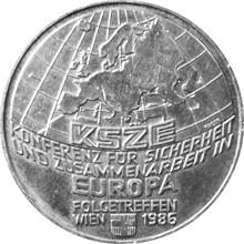 Stříbrná mince 500 Šilink 1986