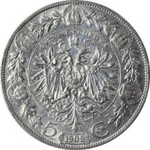 Strieborná minca Päťkorunáčka Františka Jozefa I. Rakúská razba 1909