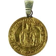 Zlatá minca Svatý Václav Jednodukát Československý 1925 Přívěsek