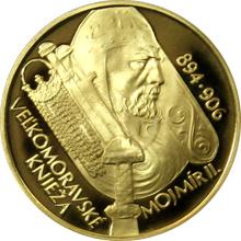 Zlatá minca 5000 Sk Velkomoravský Knieža Mojmír II. 1100. výročie úmrtia 2006 Proof