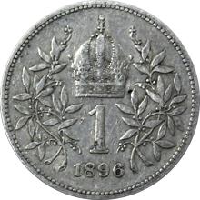 Stříbrná mince Koruna Františka Josefa I. Rakouská ražba 1896