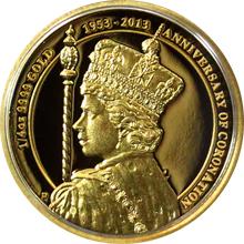 Zlatá mince Královna Alžběta II. 60. výročí korunovace 1/4 Oz 2013 Proof