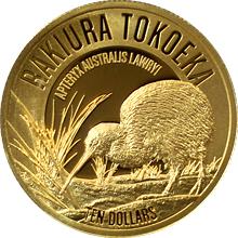 Zlatá mince Rakiura Tokoeka Kiwi 1/4 Oz 2017 Proof