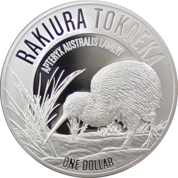 Stříbrná mince Rakiura Tokoeka Kiwi 1 Oz 2017 Proof