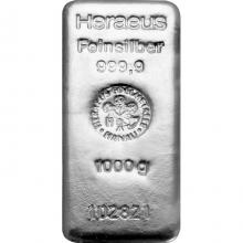 1000g Argor Heraeus / Heraeus Investiční stříbrný slitek