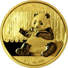 Zlatá investičná minca Panda 30g 2017