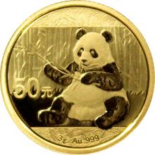 Zlatá investiční mince Panda 3g 2017