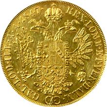 Zlatá mince 4-Dukát Ferdinanda I. 1847 A