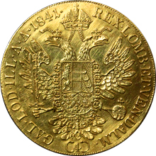 Zlatá mince 4-Dukát Ferdinanda I. 1841 A