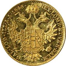 Zlatá mince Dukát Ferdinanda I. 1848 A