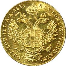 Zlatá mince Dukát Ferdinanda I. 1839 E