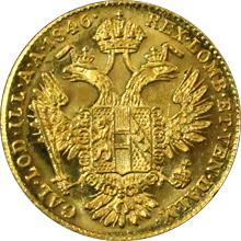 Zlatá mince Dukát Ferdinanda I. 1846 A