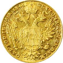 Zlatá mince Dukát Ferdinanda I. 1846 E