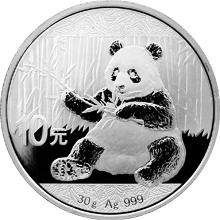 Stříbrná investiční mince Panda 30g 2017