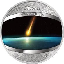 Exkluzivní mince Meteorit Muonionalusta 1 Oz 2016 Proof