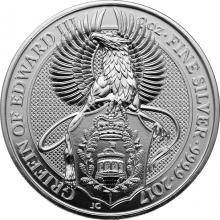 Stříbrná investiční mince The Queen's Beasts The Griffin 2 Oz 2017