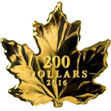 Zlatá minca Maple Leaf Silhouette 1 Oz 2016 Proof