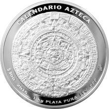 1kg Aztécký kalendář Stříbrná mince 2016 Proof