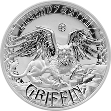 Stříbrná mince 2 Oz Griffin Legends And Myths 2016 Proof
