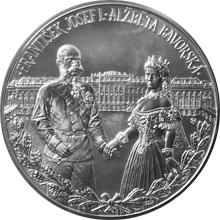 Stříbrná kilogramová mince František Josef I. a Alžběta Bavorská 2016 Standard