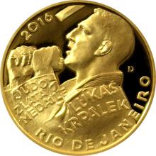 Zlatá čtvrtuncová mince Lukáš Krpálek 2016 Proof