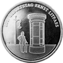 Stříbrná mince Ernst Litfass 200. výročí narození 2016 Standard