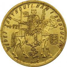 Zlatá mince Svatý Václav Pětidukát Československý 1929
