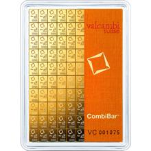 100 x 1g Combi Bar Valcambi SA Švajčiarsko Investičné zlaté tehličky