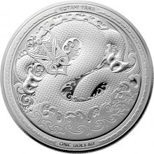 Stříbrná mince Taniwha Maori Art 1 Oz 2017 Proof