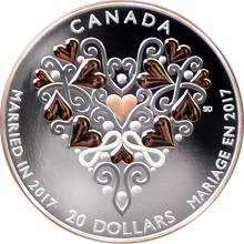Stříbrná mince Svatba 2017 Proof