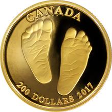 Zlatá minca Vitaj na svete 2017 Proof