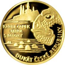 Dukát ČR Karel Čapek - Válka s mloky 2017 Proof