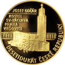Desetidukát ČR Josef Gočár - Kostel sv. Václava v Praze 2017 Proof