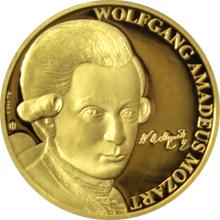 Zlatá půluncová mince Wolfgang Amadeus Mozart 2017 Proof