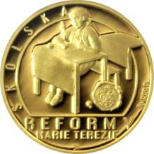 Zlatá čtvrtuncová mince Reformy Marie Terezie - školská 2017 Proof