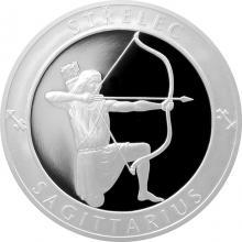 Stříbrná medaile Znamení zvěrokruhu - Střelec 2017 Proof