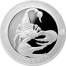 Stříbrná medaile Znamení zvěrokruhu - Štír 2017 Proof