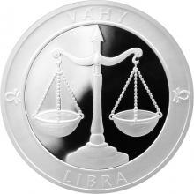 Stříbrná medaile Znamení zvěrokruhu - Váhy 2017 Proof